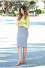 Heather-gray-h-m-skirt-yellow-zara-top-camel-steve-madden-sandals