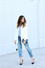 Light-blue-levis-jeans-white-tobi-blazer-sky-blue-zara-top