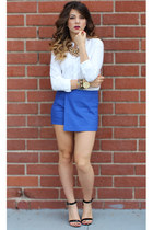 Zara shorts - Topshop shirt