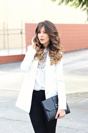 black J Brand jeans - white Tobi blazer - white Topshop shirt