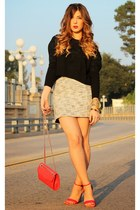 H&M skirt - Zara sweater - Rebecca Minkoff bag - Target sandals