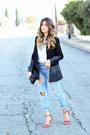 Sky-blue-zara-jeans-black-forever-21-blazer