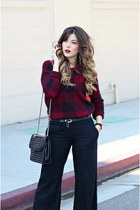 crimson Forever 21 sweater - black Rebecca Minkoff bag - black Guess pants