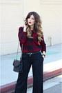 Crimson-forever-21-sweater-black-rebecca-minkoff-bag-black-guess-pants