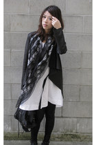 JNBY dress - JNBY jacket - Alexander McQueen scarf