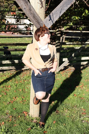 Urban Renewal blazer - Old Navy skirt - Ross shoes