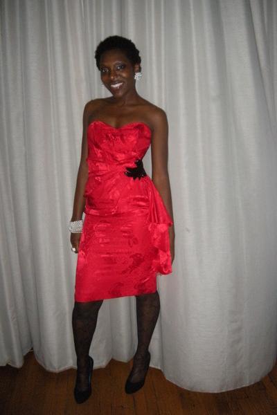 Goodwill dress - la perla tights - seychelles shoes
