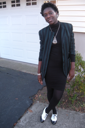 Goodwill blazer - American Apparel dress - flea market scarf - Chain