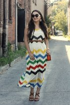 chevron stripes Dorothy Perkins dress - sandals Aldo shoes