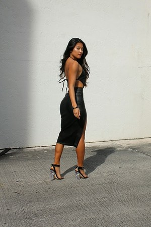 black Hot Miami Styles bodysuit - black asos heels