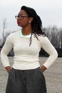 Thrifted-skirt-moda-international-sweater-franco-sarto-heels