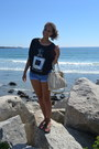 Black-target-shirt-ivory-coach-bag-blue-denim-shorts-forever-21-shorts