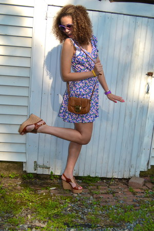 blue Forever 21 dress - tawny Michael Kors bag - tawny Preview International wed