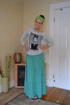 9297fb4dd3e turquoise blue Target dress - silver Forever 21 shirt - black flip flops Old  Nav