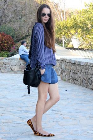 Zara shirt - Bershka bag - Stradivarius shorts - Zara flats