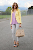 31 Phillip Lim top - Zara blazer - Prada bag - Topshop pants
