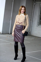 H&M Trend skirt - Comptoir des Cotonniers sweater - Marc Jacobs bag