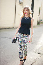 Zara pants - H&M top - Alexander Wang heels