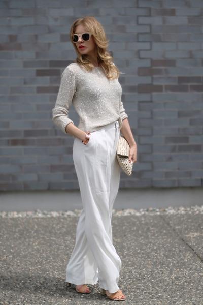 Zara wallet - Des petits hauts sweater - Zara pants