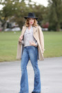 Zara-coat-paige-jeans-sandro-bag-reiss-blouse