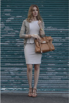 aliceolivia dress - Mulberry bag - Zara cardigan