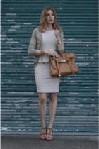 aliceolivia dress - Mulberry bag - Zara cardigan