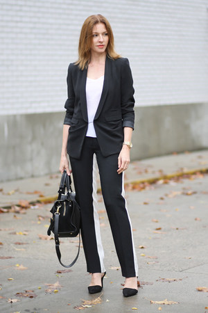 Tara Jarmon blazer - SANDRO bag - 31 Phillip Lim pants