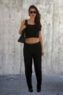 Black-louis-vuitton-bag-black-forever-21-heels-black-sfera-pants