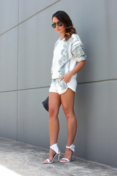 baroque set Out With Audrey shorts - baroque set Out With Audrey jumper
