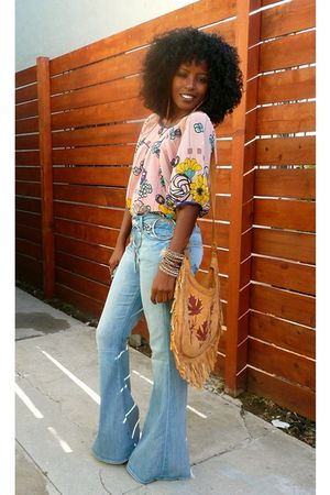 blue 7 for all mankind jeans - pink f21 blouse