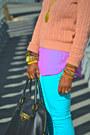 Chiffon-blouse-american-apparel-sweater-joes-leggings