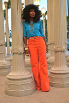 carrot orange 70s style American Apparel jeans