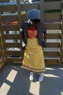 Yellow-wewe-clothing-dress-gray-h-m-blazer-gray-topman-hat-white-converse-