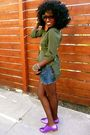 Green-tripple-5-soul-blouse-blue-thriftedrue-religion-diy-shorts-purple-modc