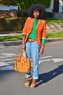 Chartreuse-american-apparel-blouse-light-blue-michael-kors-jeans