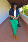 Navy-jcrew-blazer-gold-jcrew-shoes-white-jcrew-shirt-chartreuse-zara-pants