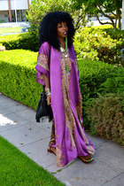 magenta vintage caftan dress