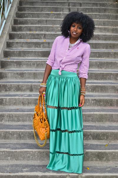 Ralph Lauren shirt - free people skirt