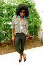 Beige-leopard-print-blouse-shirt-black-leather-patch-leggings-leggings-black