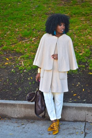 Jcrew pumps - free people pants - H&amp;M cape