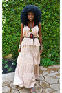 Cream-ruffle-dress-dark-brown-thailand-sandals