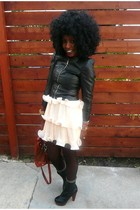 black H&M jacket - beige H&M dress
