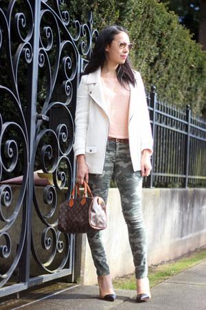 ivory Zara jacket - army green camouflage G21 jeans