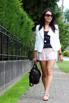 black rocco Alexander Wang bag - white crepe Babaton jacket