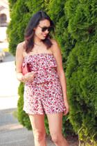 brick red Chanel bag - dark brown number one Karen Walker sunglasses
