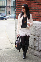 black rose gold rocco Alexander Wang bag - eggshell Zara jacket