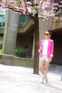 Silver-sequin-toms-shoes-hot-pink-zara-blazer-light-pink-chanel-bag