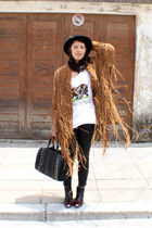 black Topshop boots - black vintage from Tokyo hat
