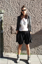 black Zara shorts - charcoal gray Alexander Wang boots