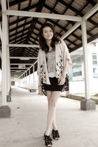 chiffon kimono jacket - Sequin top - Style Societal skirt